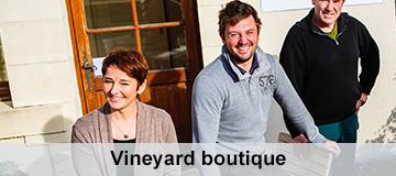 Vineyard collect wine