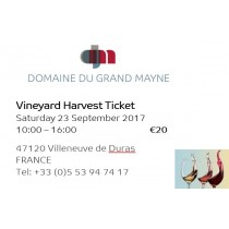 Vendange Tickets