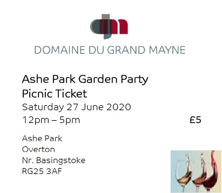 Ashe Park Garden Party Picnic Ticket