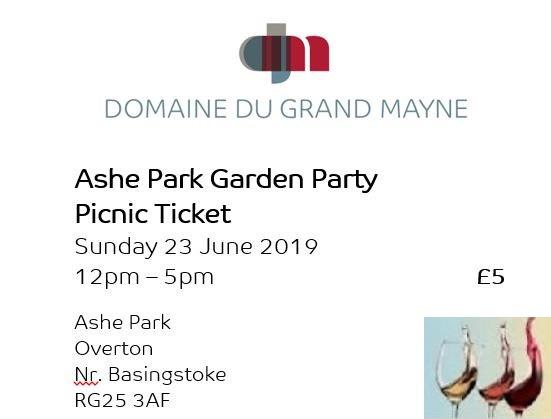 Ashe Park Garden Party - Picnic Ticket