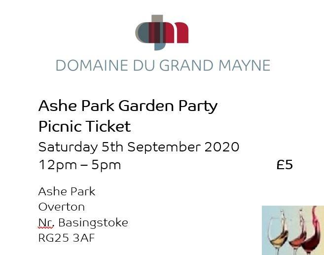 Ashe Park Garden Party Picnic Ticket