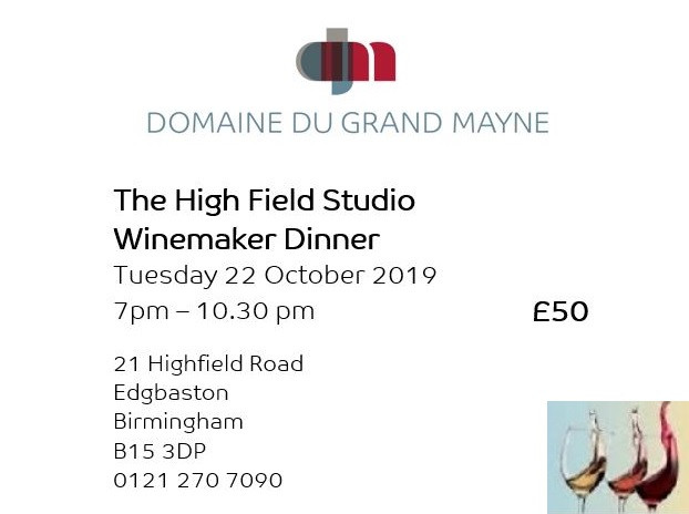 The High Field Studio Dinner ticket
