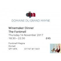 Winemaker dinner at The Fontmell