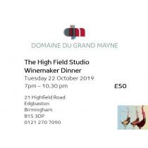 The High Field Studio Dinner ticket