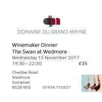 Winemaker dinner at The Swan, Wedmore